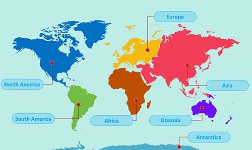 8 Continents of the World